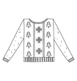 Christmas graphic sweater isolated on white