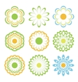 colored flowers set eps8 vector image vector image