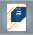 cover annual report 904 vector image vector image