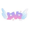cute cartoon love concept love lettering vector image vector image