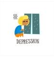 Depression vector image