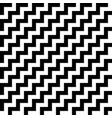 diagonal black and white zigzag stripes pattern vector image vector image