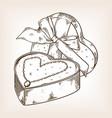 diamond necklace heart engraving vector image vector image