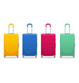 different colorful business and family vacation vector image