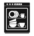 dishwasher icon simple style vector image vector image