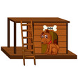 dog house with cute sitting isolated vector image
