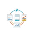 Financial report and financial strategy vector image