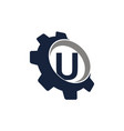 gear logo letter u vector image vector image