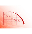 graph down vector image vector image