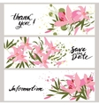 greeting hand-drawn lily floral vector image