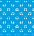 headphones pattern seamless blue vector image vector image