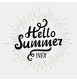 Hello summer typographic inscription on vintage vector image vector image