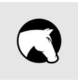 horse head logo black and white color vector image vector image