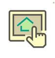 housing development concept icon design 48x48 vector image vector image