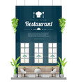 interior background modern restaurant vector image vector image