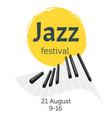 jazz poster backgroun vector image vector image