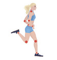 joint pain from infected or injury female body vector image