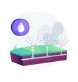 lawn watering system abstract concept vector image vector image