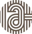 letter line a alphabet design vector image vector image