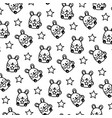 line cute mice funny animals background vector image vector image