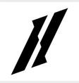 ll il initials geometric letter company logo vector image vector image