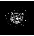 Logo symbol sign stencil bear headUnique technique vector image vector image