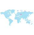 map of the world consisting of blue E-mail symbol vector image vector image