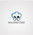master chef with head and little star concept vector image