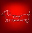 merry christmas and dog are united vector image vector image