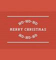 merry christmas background retro stylish vector image vector image