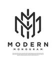 monogram letter m logo vector image vector image