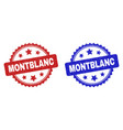 montblanc rosette seals with grunged style vector image vector image