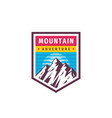 mountain adventure - concept logo badge vector image vector image