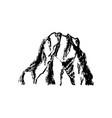 mountain icon vintage vector image vector image