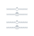 New Year minimalistic text separator Christmas vector image vector image
