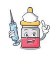 nurse nassal drop character cartoon vector image