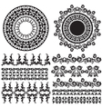 oriental border and ornament one vector image