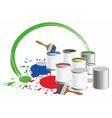 paint pots vector image vector image