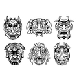Religious masks in tribal style vector image