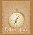 retro style poster old compass vector image vector image