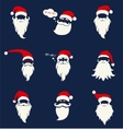 Santa hats mustache and beards vector image