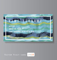 sea pattern business card vector image