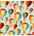 Seamless travel pattern of hot air balloons vector image vector image