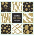 Set of 8 hand drawn seamless trendy patterns with vector image