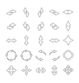 Set outline arrows vector image vector image