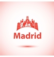 silhouette of Madrid City skyline vector image vector image