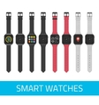 smart watches vector image vector image