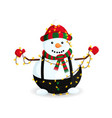 snowman in garland vector image