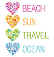 summer sea travel banner color wallpaper vector image vector image