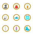 surfing icons set cartoon style vector image vector image